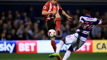 Osman Kakay (right) in action for Queens Park Rangers against Sunderland in the EFL Cup in 2016 (pic