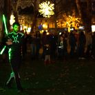 The light show entertains the crowds. Picture: Siorna Ashby