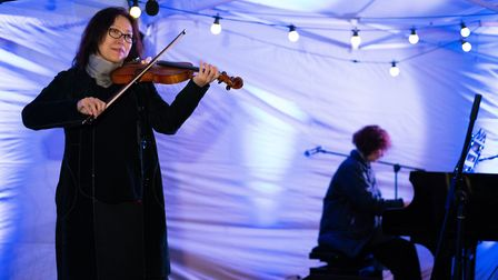 Live piano and violin klezmer performance. Picture: Siorna Ashby