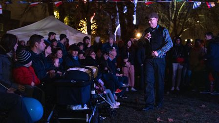 Chanukah storytelling with Andy Copps. Picture: Siorna Ashby