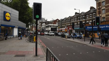 Severn Sisters Road at Finsbury Park.Picture:Ken Mears
