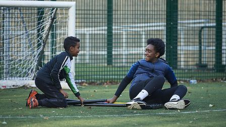 Youngsters enjoying cricket in London (pic Justin Downing/Chance to Shine)