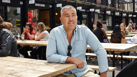 Roger Wade, founder of Boxpark, in one of his pop up malls. Picture: Boxpark