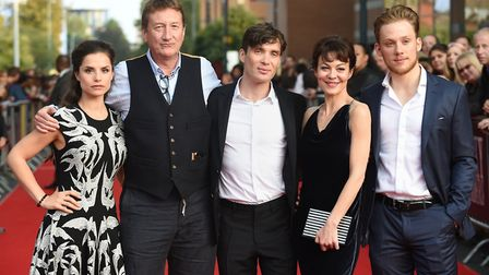Charlotte Riley, writer Steven Knight, Cillian Murphy, Helen McCrory and Joe Cole at the premiere of