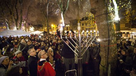The eighth annual Islington Menorah Lighting takes place this Sunday. Picture: Jeremy Freedman