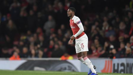 Ainsley Maitland-Niles of Arsenal during the Europa League match at the Emirates Stadium. Picture by