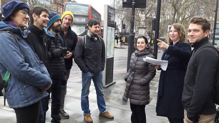 Campaigners plot next years car free day in Upper Street. Picture: NICOLA BAIRD