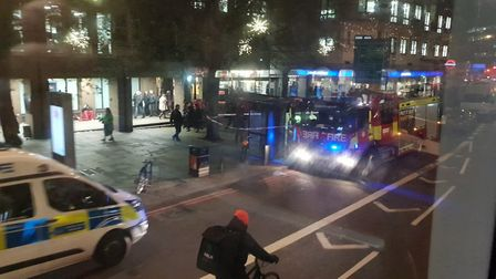 Police, Paramedics and firefighters are responding to an incident outside Angel Station. Picture: Ha