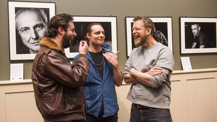 Felix and Hugo White, of The Maccabees, and Ted Dwane from Mumford & Sons were at the launch event.