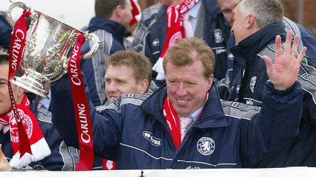 Current Queens Park Rangers boss Steve McClaren guided Middlesbrough to the Carling Cup in 2004 (pic