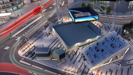 The road layout showing what Old Street roundabout will look like after the work is done . Picture: