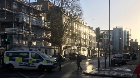 Police have closed off York Way between Camden Road and Market Road as they continue to investigate