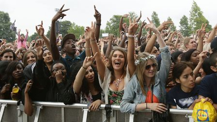A crowd watching Labrinth on the main stage at Wireless Festival 2014 in Finsbury Park. Picture: Yui