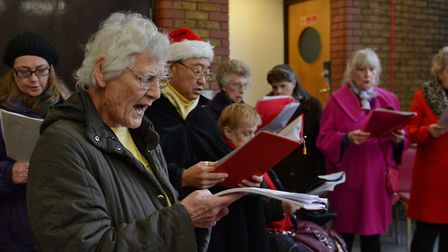Carol singers at Angel Day. Picture: Angel.London