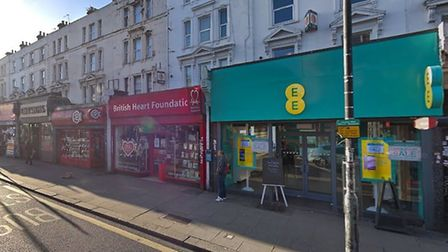 The EE store was raided at the weekend. Picture: Google