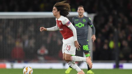 Mattéo Guendouzi of Arsenal during the Europa League match at the Emirates Stadium. Picture by Marty