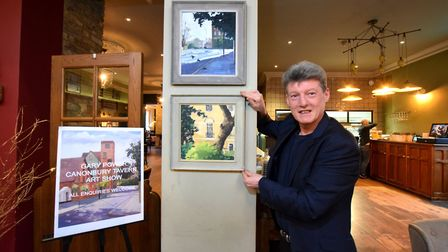 Canonbury artist Gary Power who is exhibiting his paintings in the Canonbury Tavern. Picture: Polly