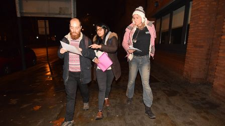 Islington street sleepers survey during the night of 29/30 November 2018. Teams leave the offices at