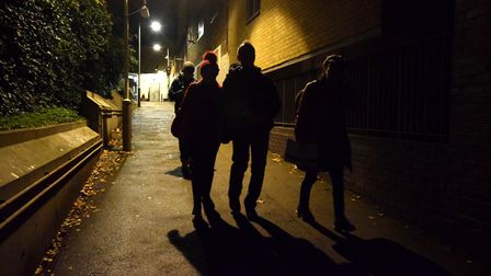 Islington street sleepers survey during the night of November 29/30 2018. Checking the area around