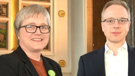 Cllr Caroline Russell (Green) and Cllr Richard Watts (Lab) debated the new incinerator. Picture: Pol