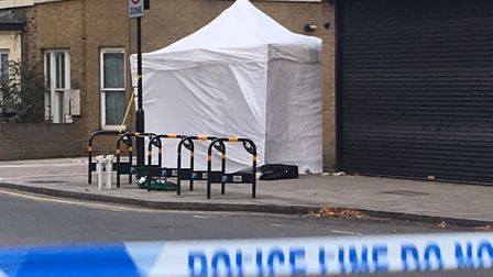 The scene of the stabbing in Cassland Road. Picture: Polly Hancock