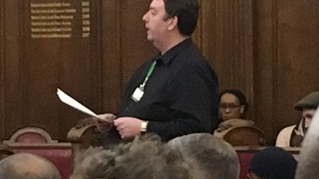 Cllr Troy Gallagher put forward a motion calling on the government to scap Universal Credit. Picture