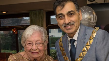 Pearl Slater with the Mayor of Brent. Picture: Adam Soller