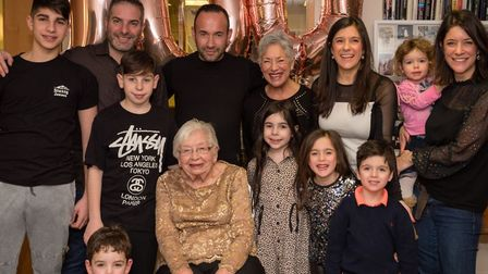 Pearl Slater with her family. Picture: Adam Soller