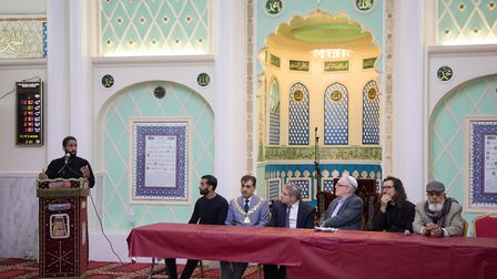 The inter-faith event was held at the Mosque and Islamic Centre of Brent. Picture: Jonathan Goldberg