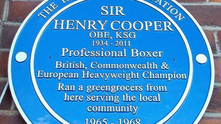 Heavy weight boxing champion Henry Cooper once lived at 5, Ledway Drive, Wembley