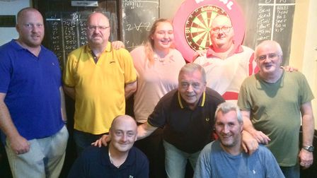Archway Darts League outfit Royal Oak A face the camera