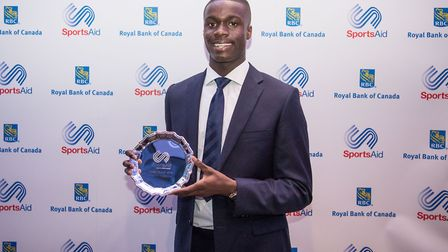 Dominic Ogbechie was a runner-up in the SportsAid 'One to Watch' awards (pic Stephen Wright)