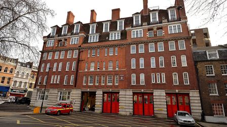 A general view of Clerkenwell Fire Station, the country's oldest, which was built in 1872 on Roseber