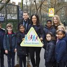 Pupils and staff at St John Evangelist Catholic Primary School, which has Islington's first School S