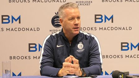 Stuart Law at Lord's during his first conference as Middlesex CCC's new head coach. CREDIT MIDDLESEX