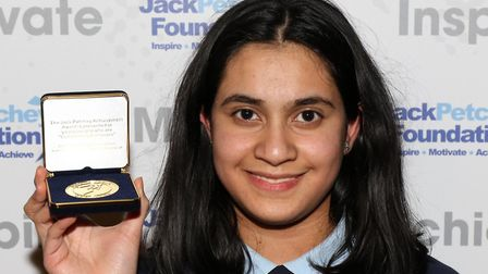 Nazmin was an an award at the Jack Petchey Foundation Achievement Awards in Islington. Picture: Jack