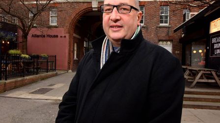 Clerkenwell and Islington tour guide Rob Smith outside the former China Inland Mission building at 4