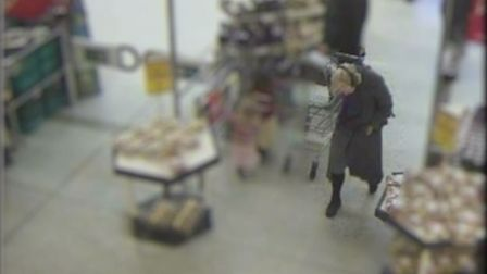 Molly Morgan in Morrisons in Queensbury the morning of her murder. Pic Met Police