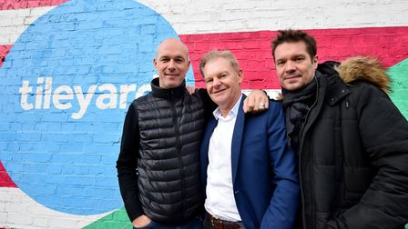 Co-founders of Tileyard, from left Nick Keyes, Paul Kempe, and Michael Harwood. Picture: POLLY HANCO