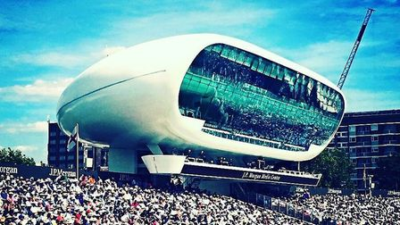 The Lord's Media Centre overlooks the Compton and Edrich Stands. CREDIT @laythy29