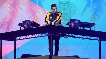 Sigala on stage during Capital's Jingle Bell Ball. Picture: PA