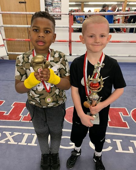 King Best and James O'Connor show off their awards (pic Reggie Hagland)