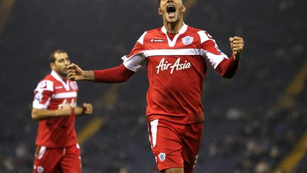 Jay Bothroyd celebrates his winner for Queens Park Rangers in an FA Cup replay against West Bromwich