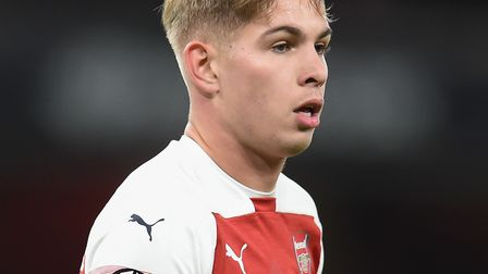 Emile Smith Rowe of Arsenal during the Europa League match at the Emirates Stadium. Picture by Marty