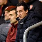 Arsenal manager Unai Emery in the stands during the Emirates FA Cup, third round match at Bloomfield