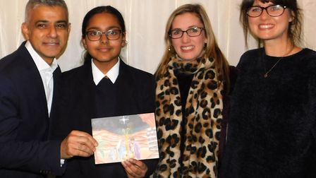 Diza D�Silva, from St Gregory�s Catholic Science College, won the Mayor of London's Christmas Card
