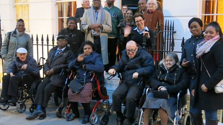 Dame Betty's Christmas Party for Tudor House residents went ahead at Fitzroy House