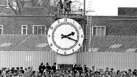 The famous clock at Highbury's Clock End. Picture: PA Archive