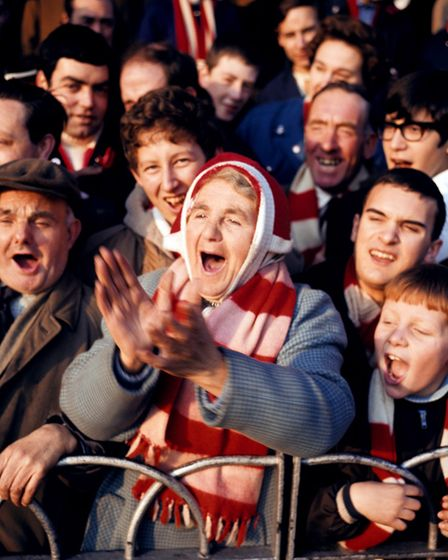 Arsenal fan Florrie Burgess, aged 69, who attended the first ever Arsenal game played at Highbury on