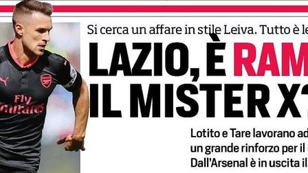 Corriere dello Sport had linked Arsenal's Aaron Ramsey to Lazio but Juventus are now the favourites
